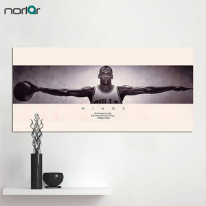 Canvas Print Michael Jordan Wings Basketball Sports Poster Vintage Old Style Decorative Paintings Print Wall Art Decor No Frame - cybershoestore.com
