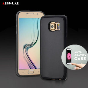 For Samsung Galaxy S7 S6 S8 S8 Plus Case Cover Antigravity Plastic Magical Anti Gravity Nano Suction Adsorbed Phone Case - cybershoestore.com