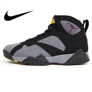 Original Authentic Nike Air Jordan 7 Bordeaux AJ7 Bordeaux Women's Basketball Shoes Sneakers Sport Outdoor Massage Medium Cut - cybershoestore.com
