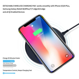 fast charger Multi port charging station with wireless and 3 pcs cables for iPhone Samsung Huawei Xiaomi - cybershoestore.com