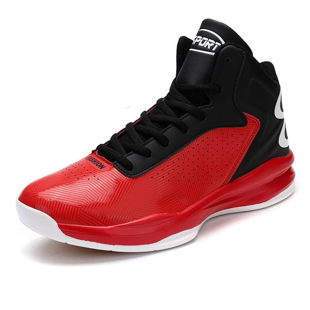Men Basketball Shoes Anti-slip Proffessional Breathable Women Red - cybershoestore.com