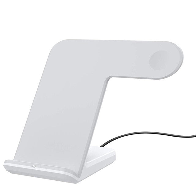 wireless charger For iPhone Xs Max Xiaomi Samsung 2 in 1 Fast Wireless Charger Charging Stand Dock For Apple Watch iWatch - cybershoestore.com