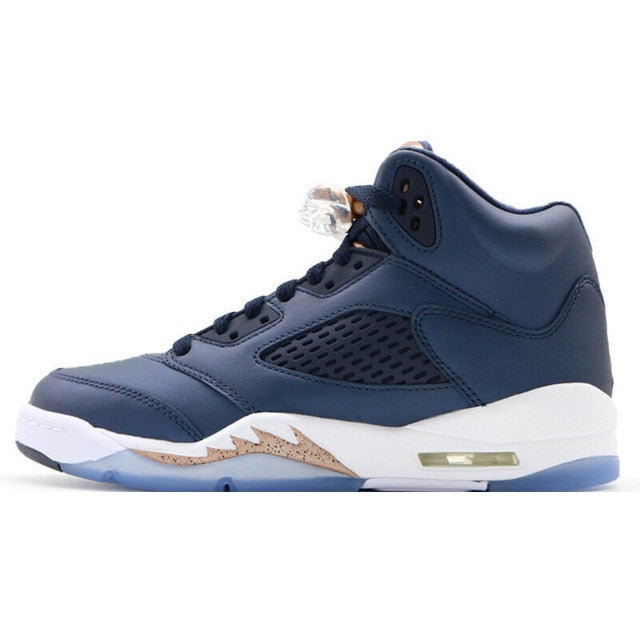 Original Authentic Nike Air Jordan 5 Retro Laney Men's Breathable Basketball Shoes Sport Outdoor Sneakers - cybershoestore.com