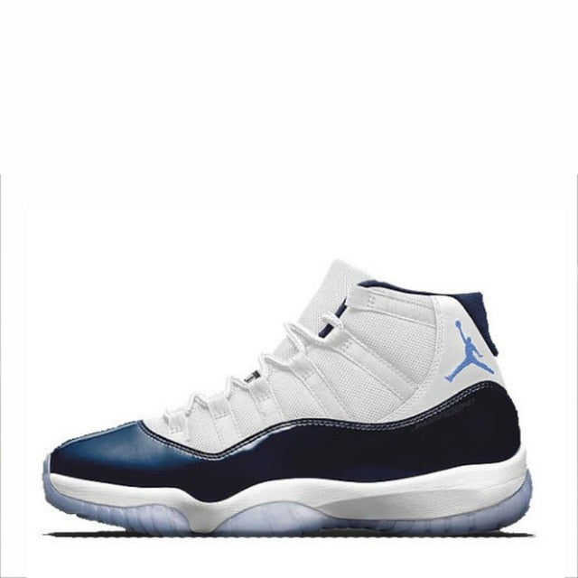 NIKE Air Jordan 11 Retro Legend Blue Mens Basketball Shoes - cybershoestore.com
