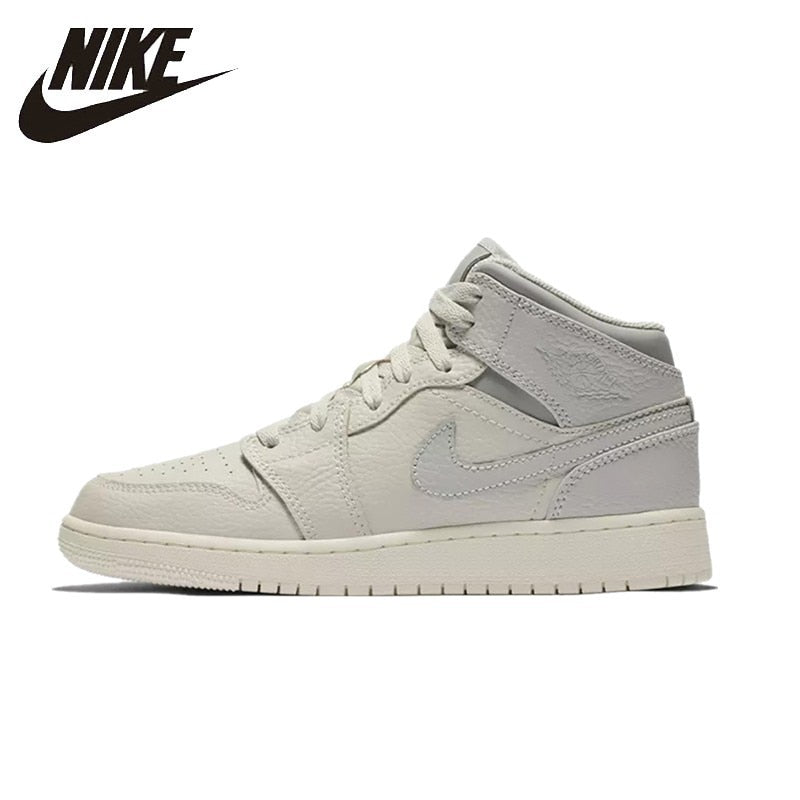 NIKE AIR JORDAN 1 MID Original Womens Basketball Shoes Breathable Comfortable Support Sports Sneakers For Women Shoes - cybershoestore.com