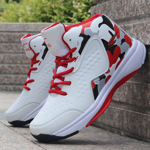 Man High-top Jordan Basketball Shoes Men's Cushioning Light Basketball Sneakers Anti-skid Breathable Outdoor Sports Jordan Shoes - cybershoestore.com