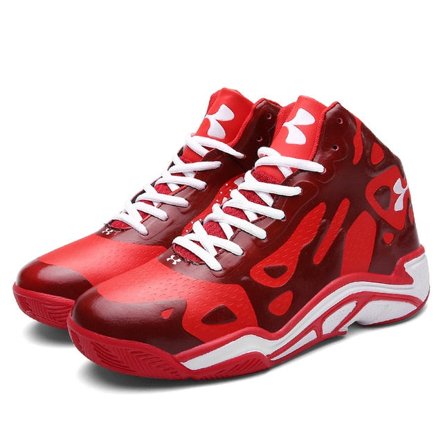 DQG High-top Men Basketball Shoes Cushioning Lightweight Basketball Sneakers Anti-skid Breathable Outdoor Sports Jordan Shoes - cybershoestore.com