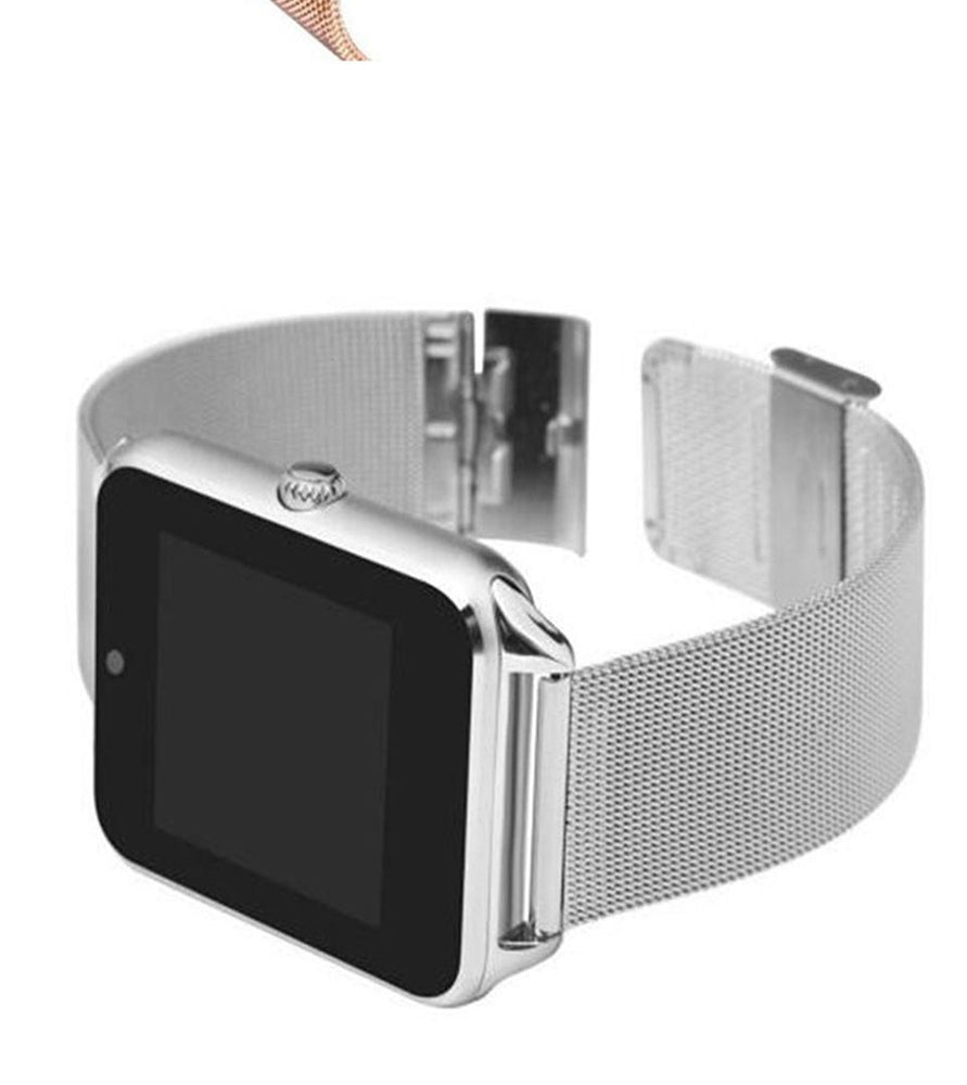 SALFRESA Smart Watch  Men Women Metal Bluetooth Wrist Support SIM/TF Card Fashion business Wristwatch For Apple Android Phone - cybershoestore.com