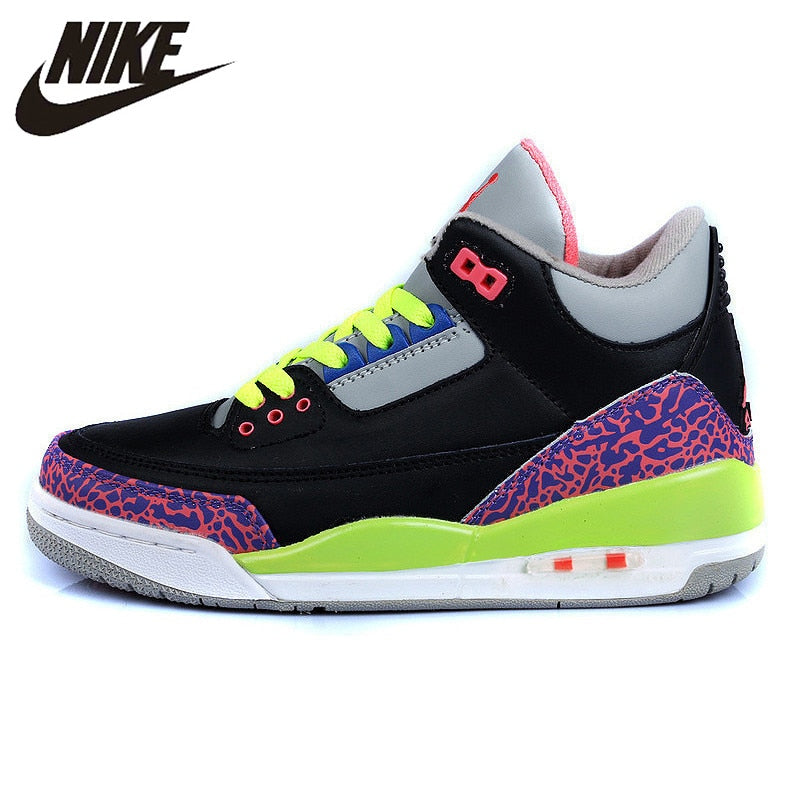 Nike Air Jordan 3 Retro BT Women  Basketball Shoes,Original Comfortable Sneakers Sports Outdoor Shoes - cybershoestore.com