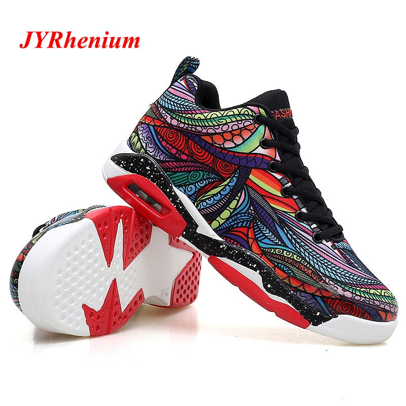 Mens Basketball Shoes Couple Breathable Retro Sneakers Women Authentic Zapatillas Hombre Deportiva Jordan Shoes - cybershoestore.com