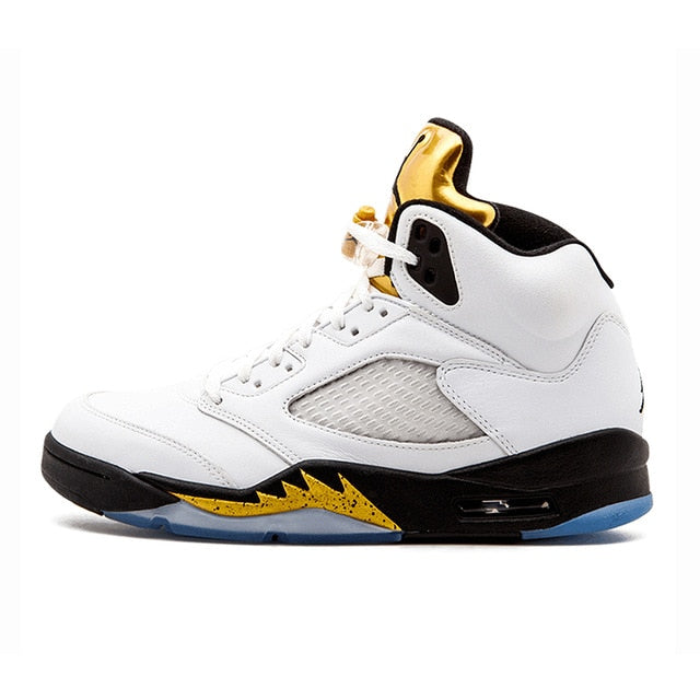 Original Authentic Nike Air Jordan 5 Retro Laney Men's Basketball Shoes Sports Breathable Outdoor Sneakers Arrival - cybershoestore.com