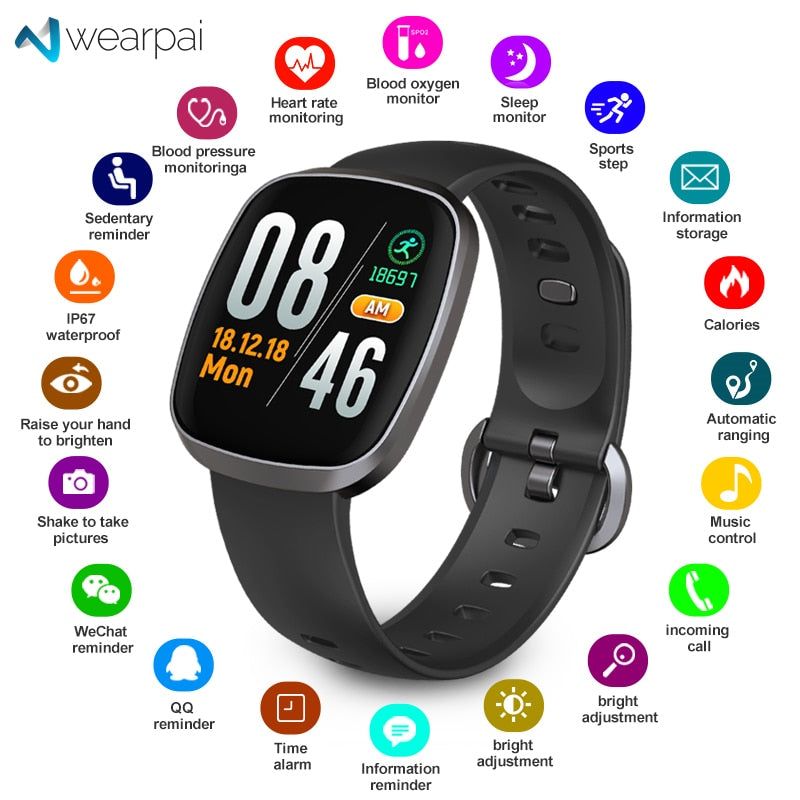 Bluetooth Smart Watch Waterproof with sport fitness tracker