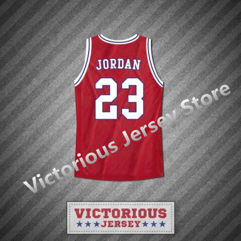 check out f0a3a 297f6 Minanser Michael Jordan 23 Space Jam Tune Squad Red Basketball Jersey