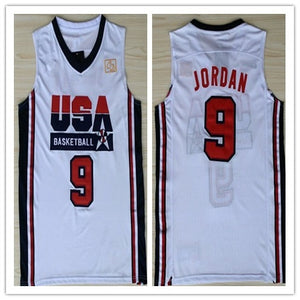 Mens #9 Michael Jordan 1992 Dream Team USA Throwback Basketball Jersey Embroidery Stitched XXS-XXL - cybershoestore.com