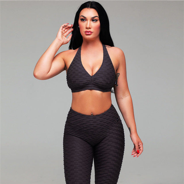 Yoga Set Gym Clothes For Women Hot Fitness Running Suit Women Yoga Leggings Sportswear - cybershoestore.com