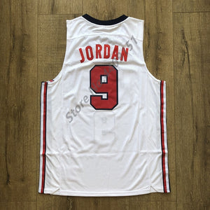 Mens #23 Michael Jordan 1992 Dream Team USA Basketball Jersey S-XXL - cybershoestore.com