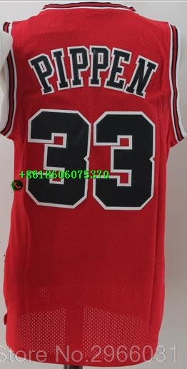 Free shipping A quality Mens Adult #23 Michael 91 Dennis Rodman 33 Scottie Pippen Jordan  Jersey Chicago - cybershoestore.com