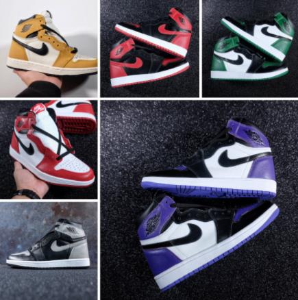 Air Basketball Jordan 1 Retro High-top OG Authentic Red White Breathable Mens Shoes Sneakers women Men