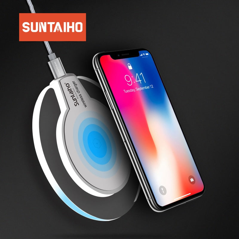 Qi Wireless Charger Suntaiho phone charger wireless Fast Charging Dock Cradle Charger for iphone XS MAX XR samsung xiaomi huawei - cybershoestore.com