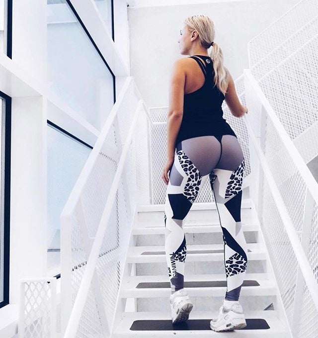 Women Leopard Yoga Gym Pants High Waist Flex Seamless Breathable Mujer Leggings Fitness Exercise Workout Femme Gymshark - cybershoestore.com