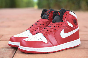 Air Basketball Jordan 1 Retro High-top OG Authentic Red White Breathable Mens Shoes Sneakers - cybershoestore.com
