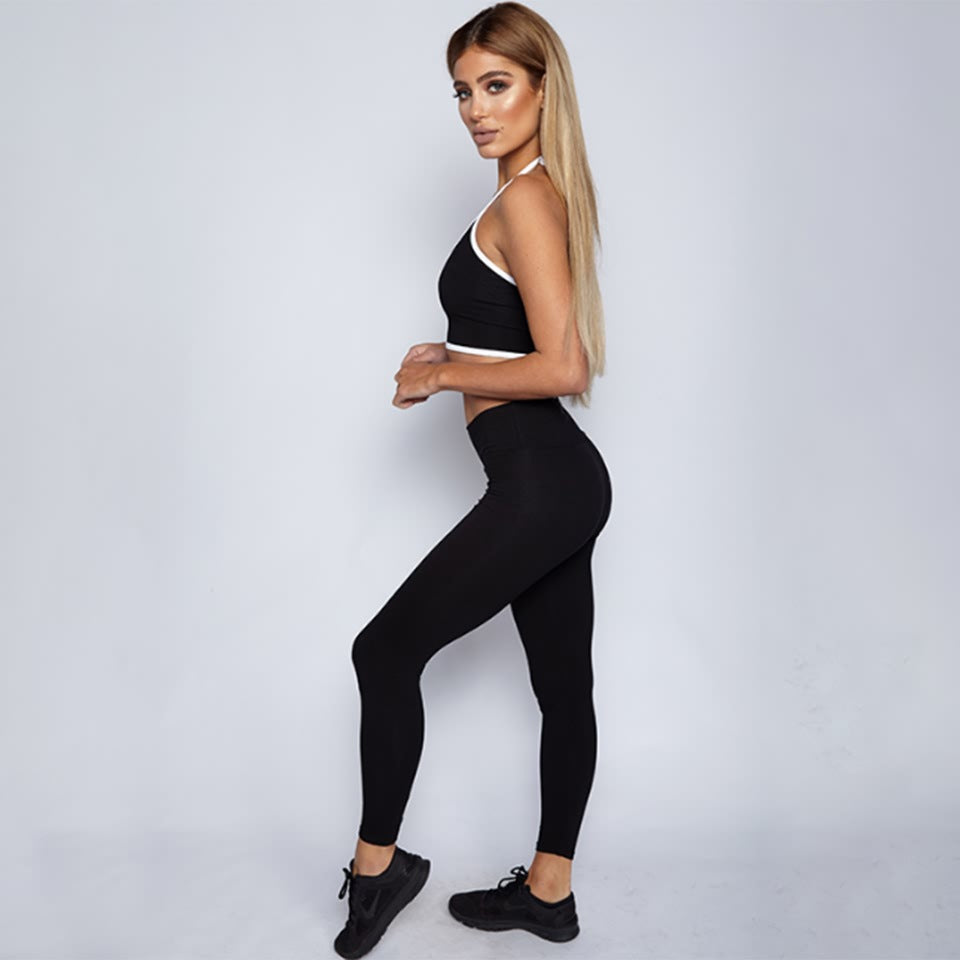 Gym 2 Piece Set Workout Clothes for Women Fitness Leggings Set Sports Wear Women Gym Clothing Athletic Yoga Set Women Tracksuit - cybershoestore.com