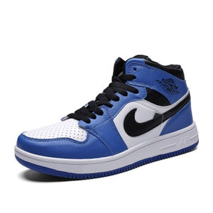 Men's Casual Lightweight Athletic High-Top Lace Up Basketball Shoes Fashion Classic Colorful Sneakers - cybershoestore.com