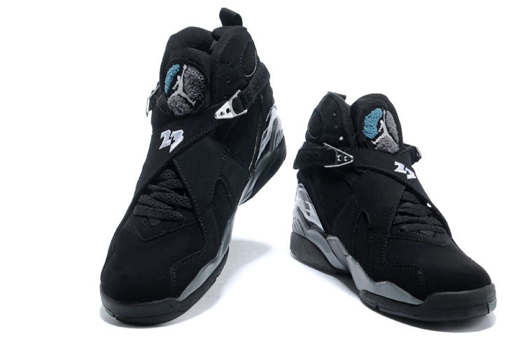 New high-quality original jordan 8 homme retro Men woman shoes basketball shoes sneakers Lovers shoes Black gray - cybershoestore.com