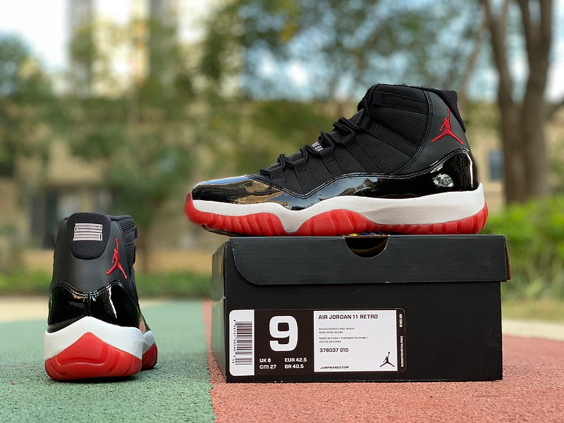 2019 New Original Jordan 11 retro Men shoes basketball shoes sneakers Bred AJ11 high Sports Training shoes - cybershoestore.com