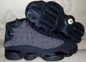 High-top New Original Jordan 13 retro Men shoes basketball shoes sneakers Black Cat 3M Reflective Real Cat Eye IA1127-108 - cybershoestore.com