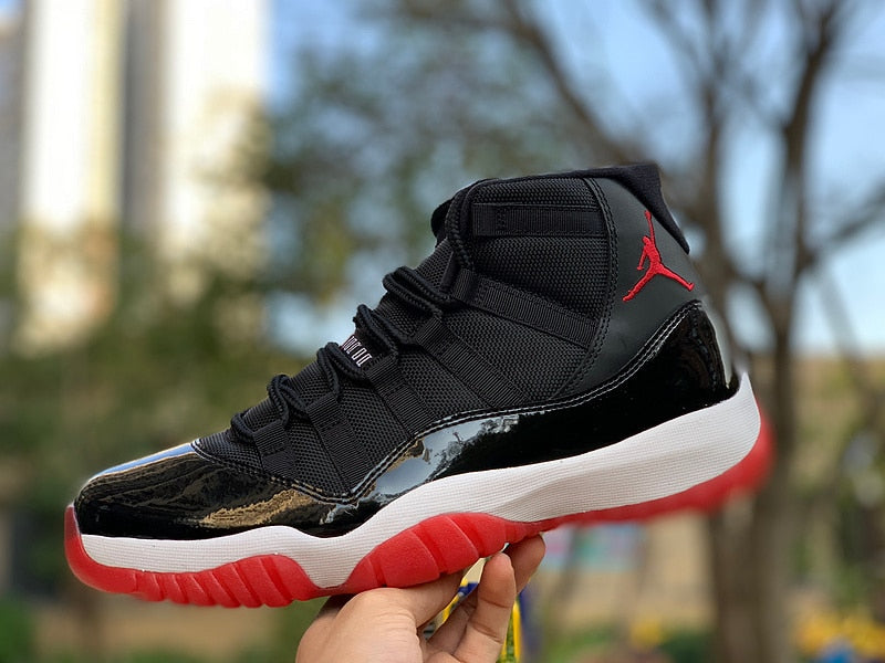 Original Jordan 11 retro Men shoes basketball shoes sneakers Bred AJ11 high Sports Training shoes - cybershoestore.com