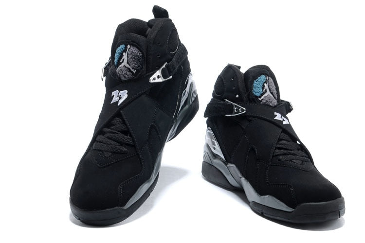 New high-quality original jordan 8 homme retro Men woman shoes basketball shoes sneakers Lovers shoes Black gray CI0550-116 - cybershoestore.com