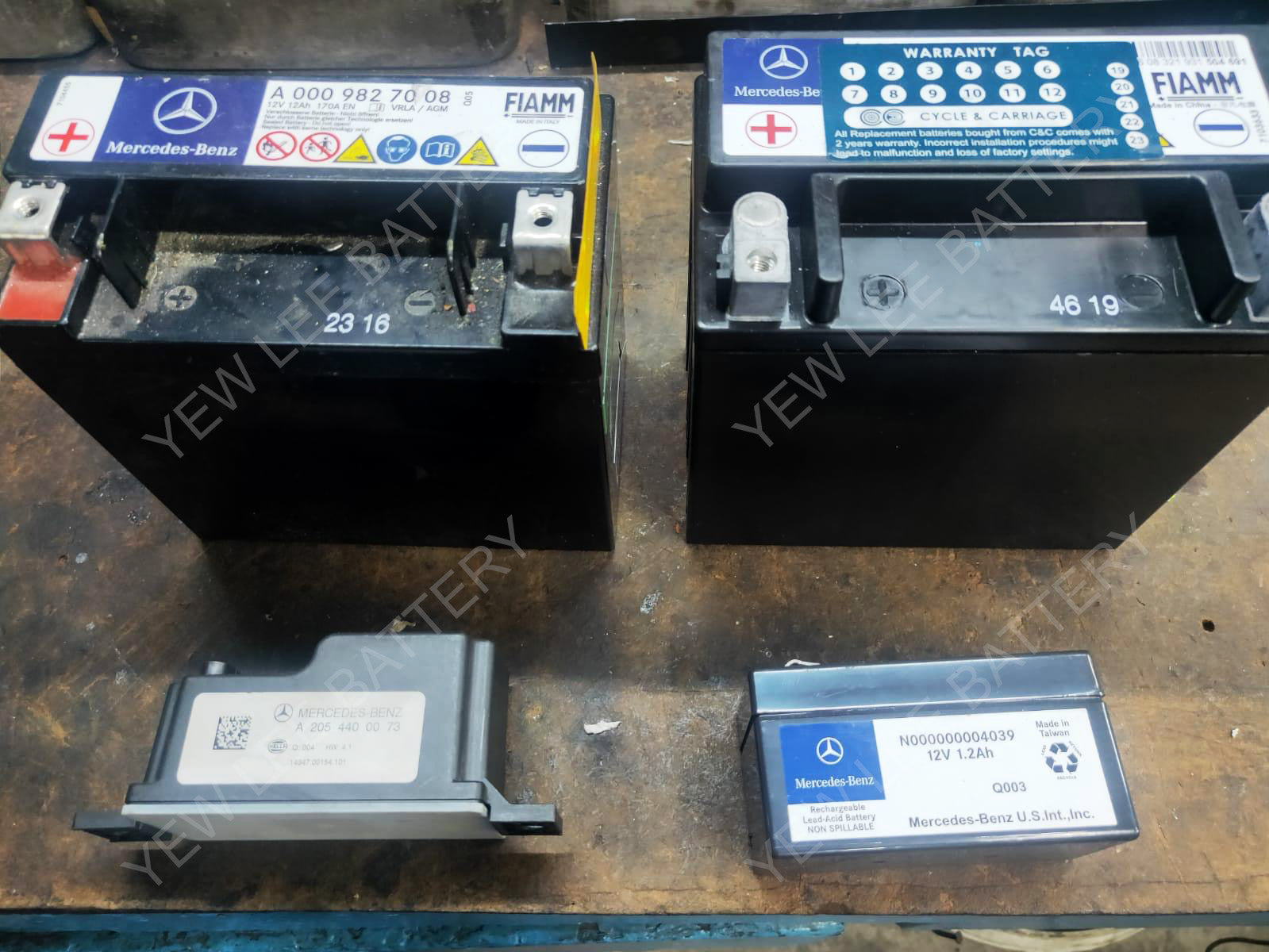 Mercedes Benz Auxiliary Battery