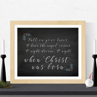 Fall On Your Knees Printable Christmas Art