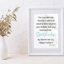 Load image into Gallery viewer, Romans 8:15 Printable Scripture Art