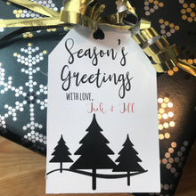 Load image into Gallery viewer, Personalized Christmas Gift Tag - 3 Trees