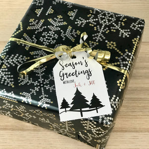 Personalized Christmas Gift Tag - 3 Trees