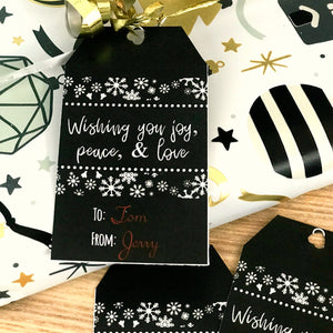 Complete Set of Personalized Christmas Gift Tags