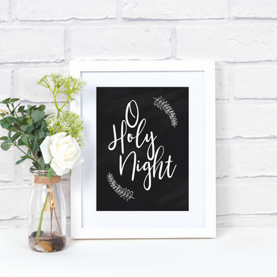 O Holy Night Printable Christmas Art