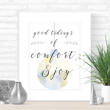 Load image into Gallery viewer, Good Tidings of Comfort and Joy Printable Christmas Art