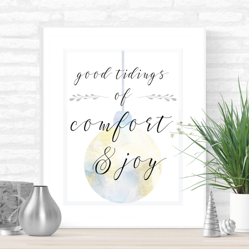 Good Tidings of Comfort and Joy Printable Christmas Art