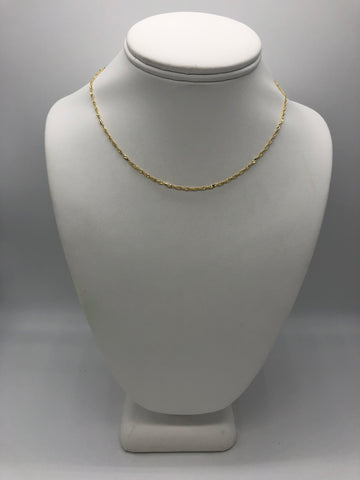 "Brandy Twisted 16"" Chain Necklace"