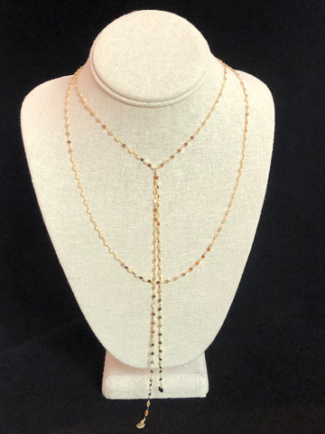 vermeil over sterling silver y necklace.