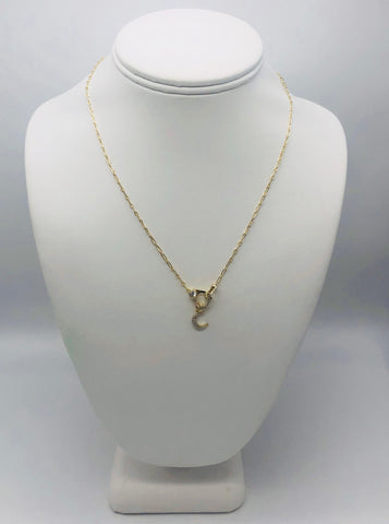 Alex Moon & Lobster Clasp Necklace