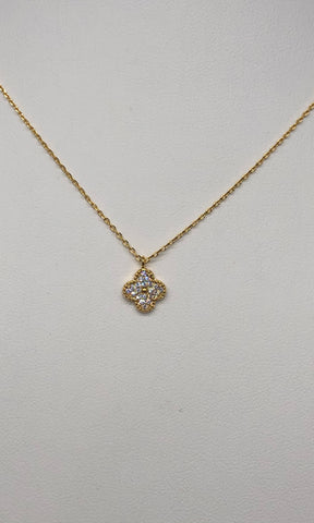 Roxy Clover CZ Necklace