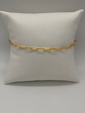 vermeil over sterling silver chain link bracelet.
