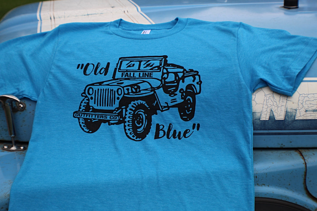 """Old Blue"" 50/50 t-shirt"