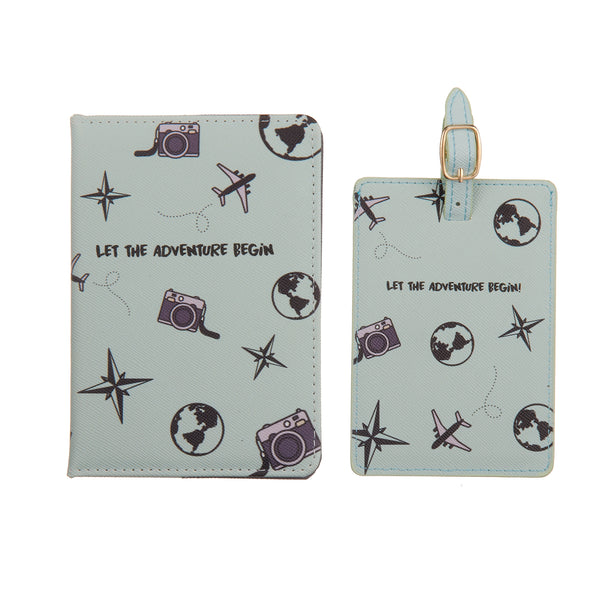 Let the adventure begin Passport cover & luggage label - Giftbox