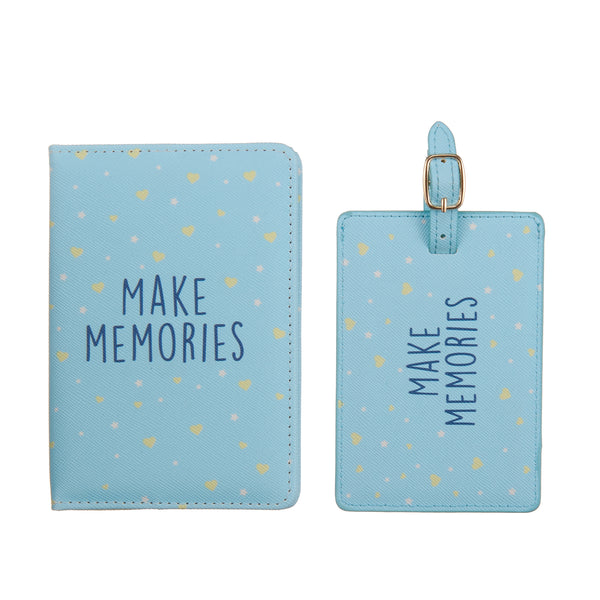 Make memories Passport cover & luggage label - Giftbox