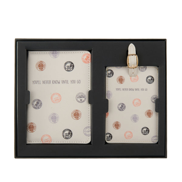 You'll never know until you go Passport cover & luggage label - Giftbox